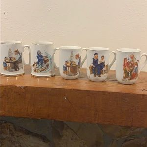 Norman Rockwell 1982 and 1985 Museum Mugs